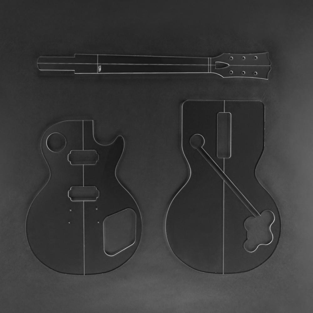 Dovetail template printable guitar - Lp59 Acrylic Templates