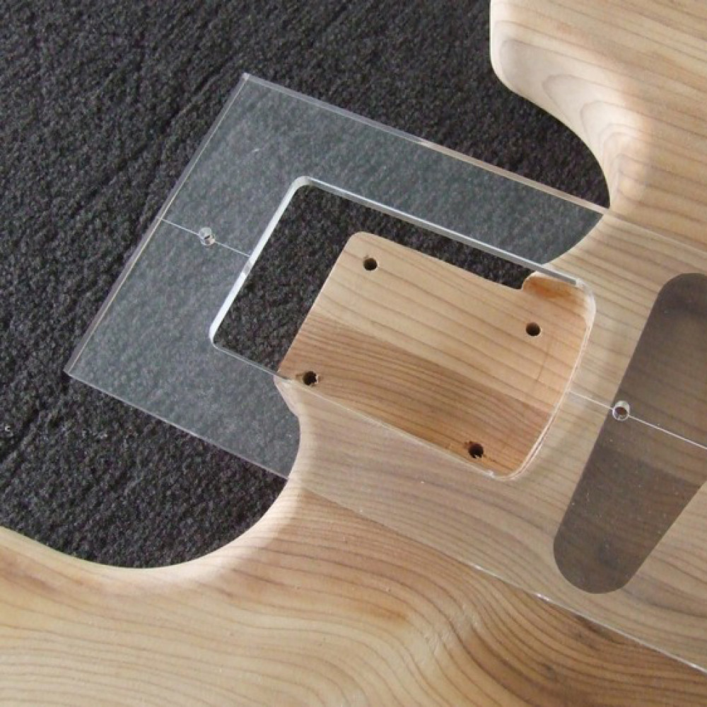 ACRYLIC NECK JOINT ROUTER TEMPLATE FOR F GUITARS - Guitar routing templates